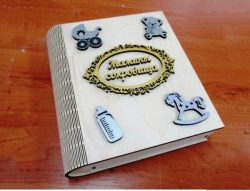 Baby Album For Laser Cut Free DXF File