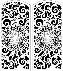 Design Door k0 For Laser Cut Cnc Free DXF File