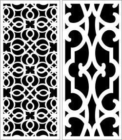 Design Pattern Panel Screen k054 For Laser Cut Cnc Free DXF File