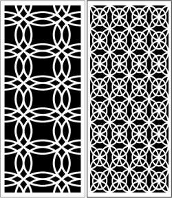 Design Pattern Panel Screen k58 For Laser Cut Cnc Free DXF File
