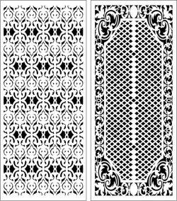 Design Pattern Panel Screen k059 For Laser Cut Cnc Free DXF File