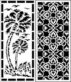 Design Pattern Panel Screen k061 For Laser Cut Cnc Free DXF File
