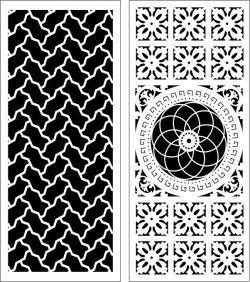 Design Pattern Panel Screen k063 For Laser Cut Cnc Free DXF File