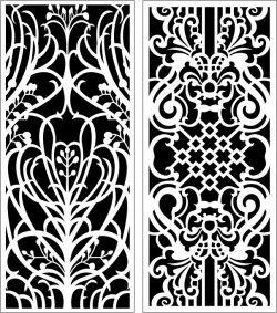 Design Pattern Panel Screen k113 For Laser Cut Cnc Free DXF File