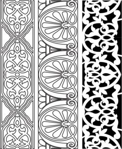 Design Pattern Woodcarving k152 For Laser Cut Cnc Free DXF File