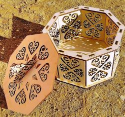 Octagonal Box For Laser Cut Free DXF File