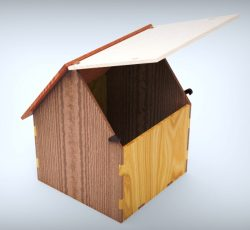 Simple House Box For Laser Cut Free DXF File