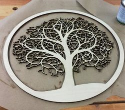 Tree Pattern For Laser Cut Cnc Free DXF File