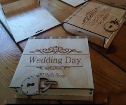 Wedding Box With Lock For Laser Cut Free DXF File