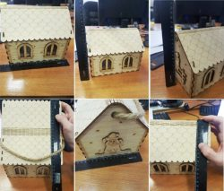 Wooden Mouse Houses For Laser Cut Cnc Free DXF File