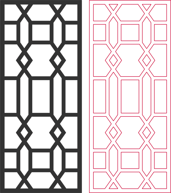 Laser Cut Beautiful Living Room Partition Pattern Free DXF File