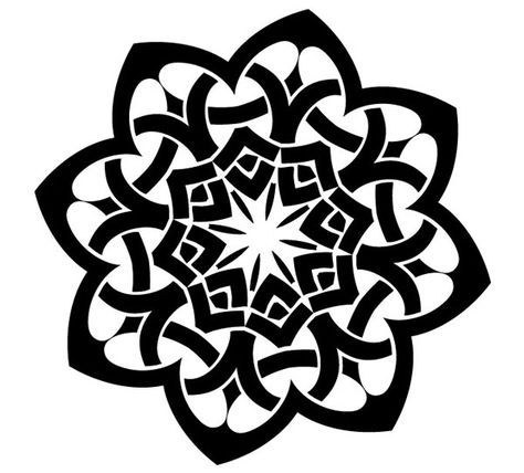 Laser Cut Celtic Ornament Pattern Free DXF File