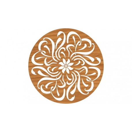 Laser Cut Circular Ornament Pattern Free DXF File