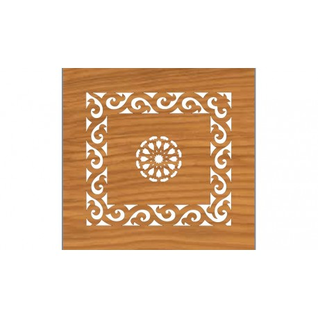 Laser Cut Cnc For Wood Decoration Pattern Free DXF File