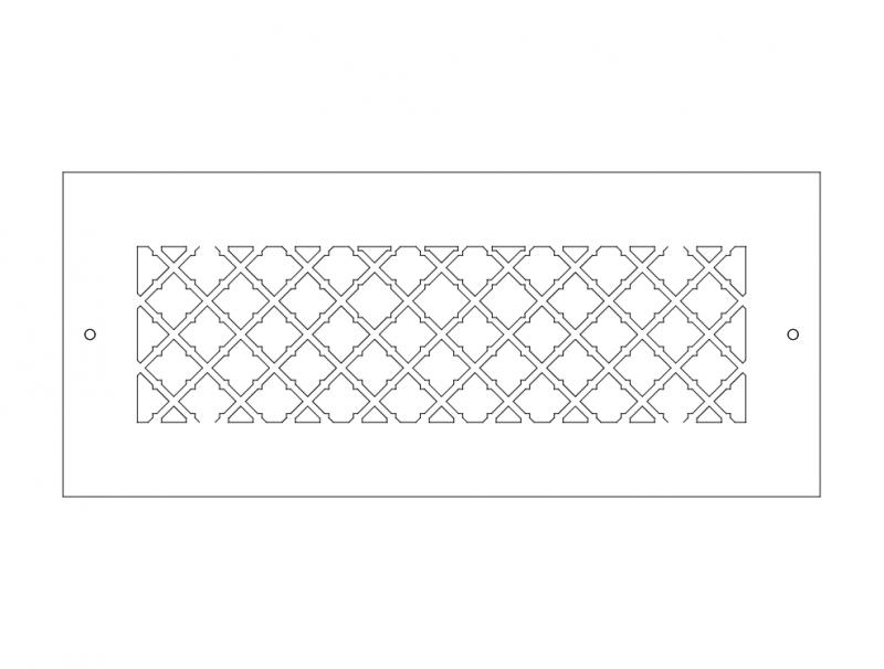Laser Cut Cnc Pattern Design Wrought Iron Free DXF File