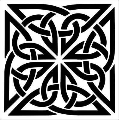 Laser Cut Deco Celtic Stencils Pattern Free DXF File