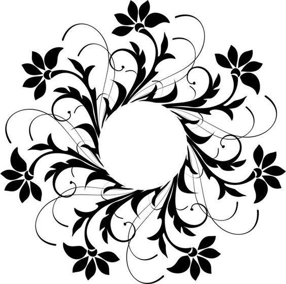 Laser Cut Decoration Floral Design Pattern Free DXF File