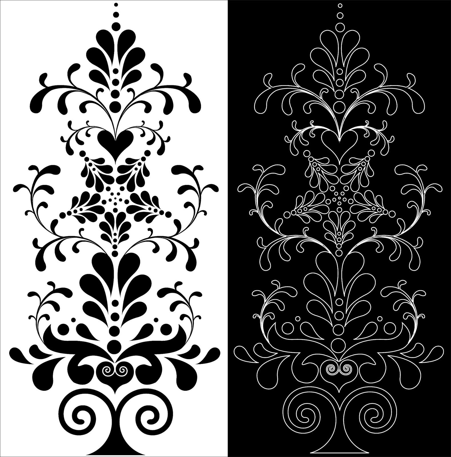 Laser Cut Decorative Floral Pattern Free DXF File