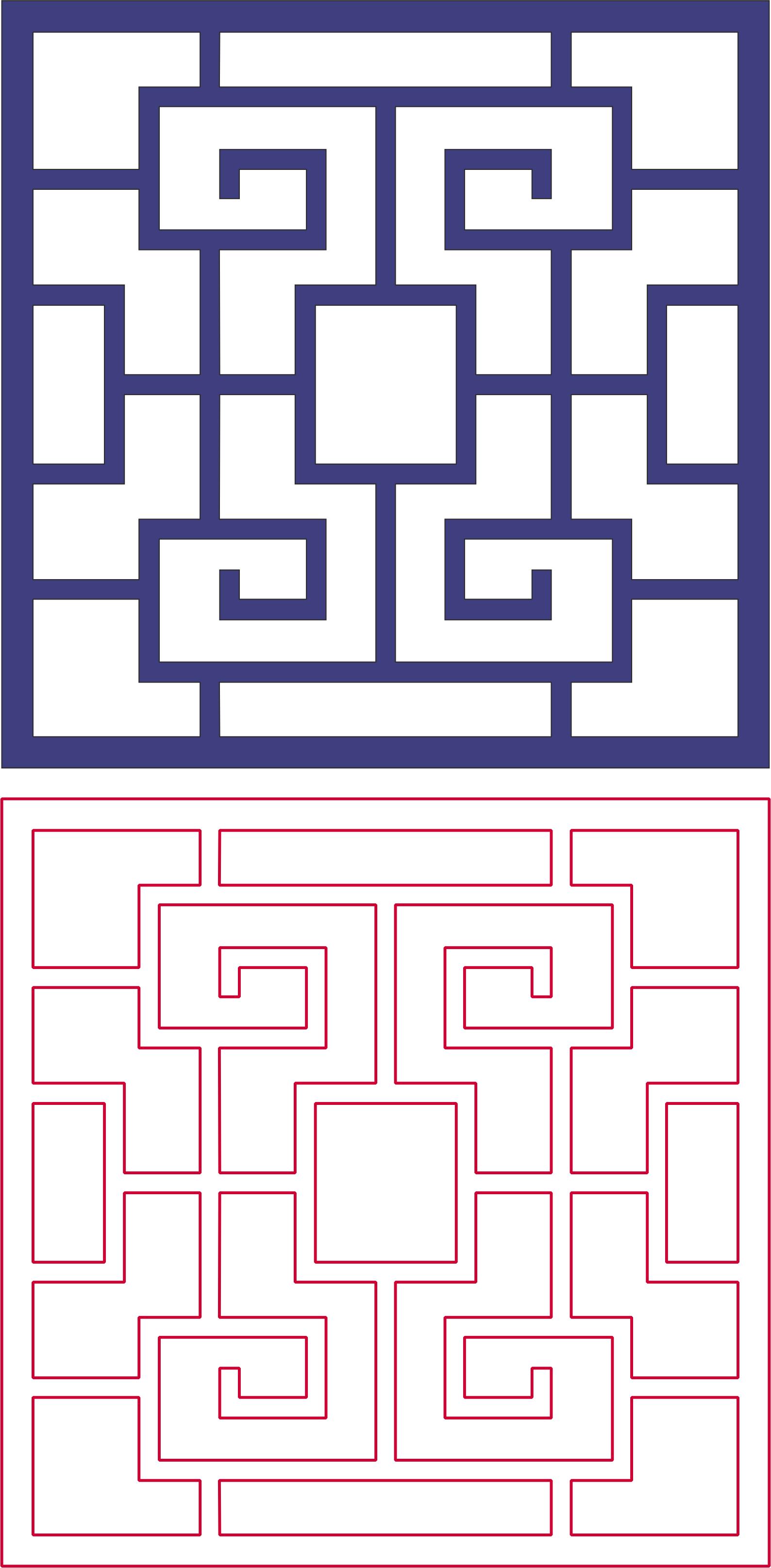 Laser Cut Decorative Lattice Pattern Free DXF File