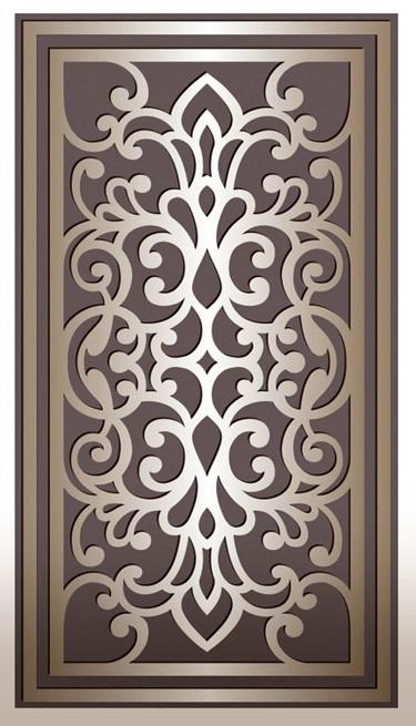 Laser Cut Decorative Panel Design Free DXF File