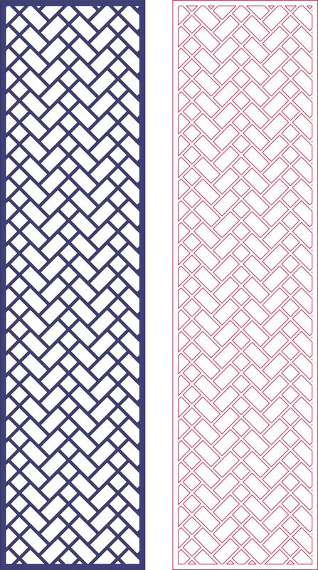 Laser Cut Decorative Screen Geometric Pattern Free DXF File