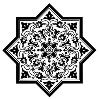 Laser Cut Decorative Staric Pattern And Stencil Free DXF File