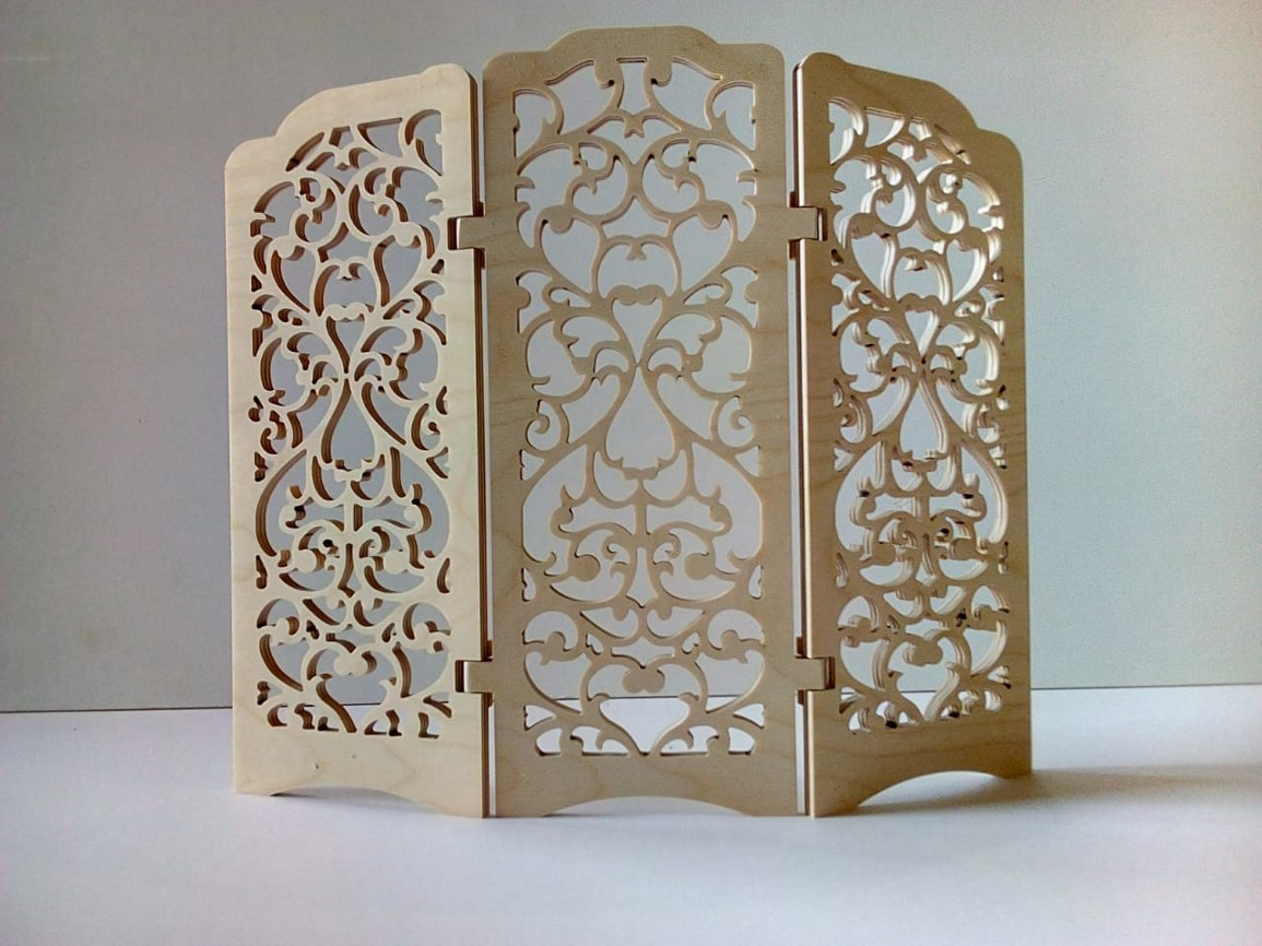 Laser Cut Decorative Wall Separated Free DXF File