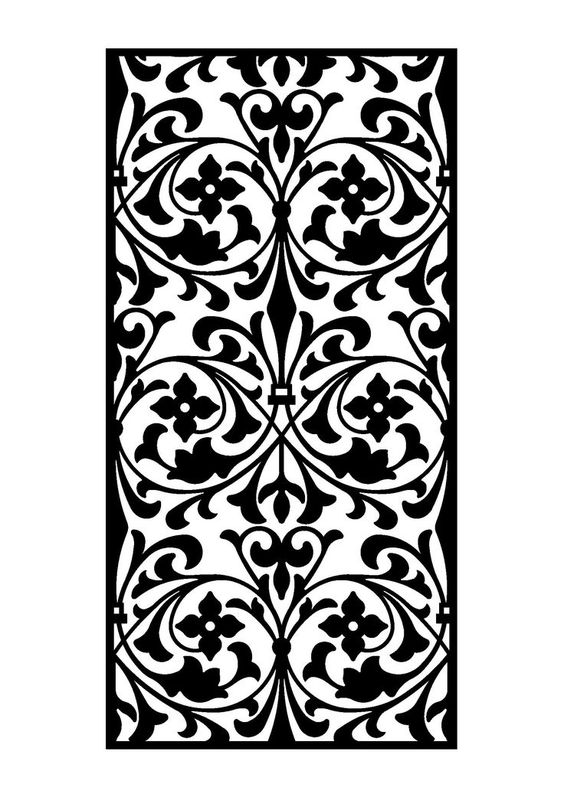 Laser Cut Design Partition Wall Pattern Panel Free DXF File