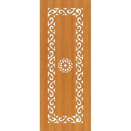 Laser Cut Door Panel Design Free DXF File
