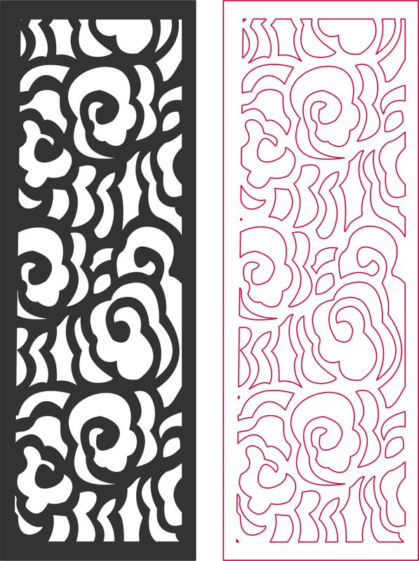 Laser Cut Door Panel Patterns Free DXF File