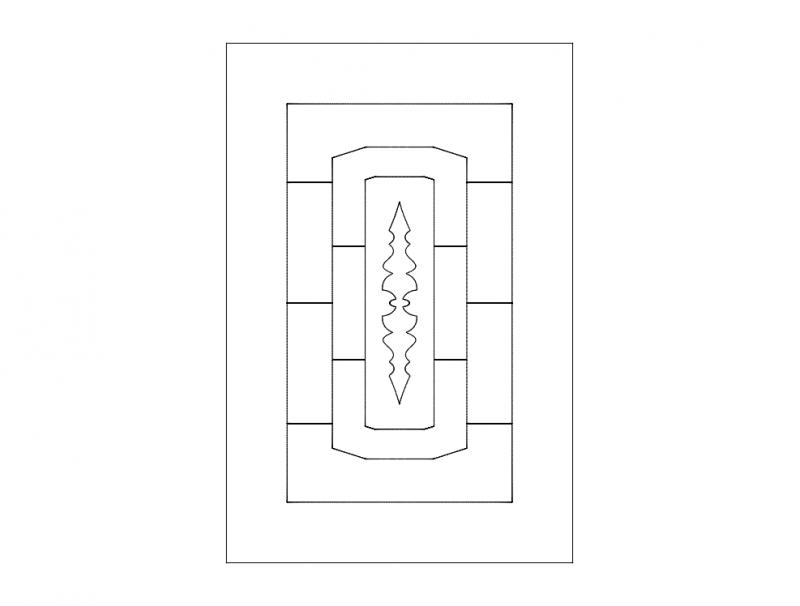 Laser Cut Door Pattern Elegant Design Free DXF File
