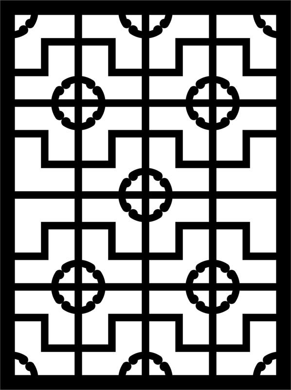 Laser Cut Engraving Pattern Lace Design Free DXF File