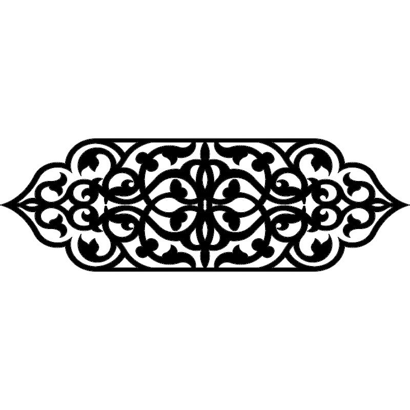 Laser Cut Floral Drawing Pattern Design Free DXF File