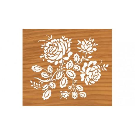 Laser Cut Floral Engraving Design Free DXF File