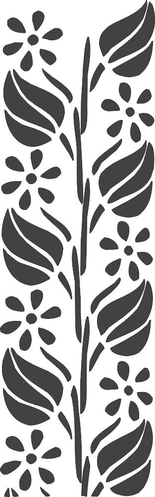 Laser Cut Floral Frame Decoration Pattern Free DXF File