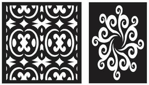 Laser Cut Floral Grille Pattern Design Free DXF File