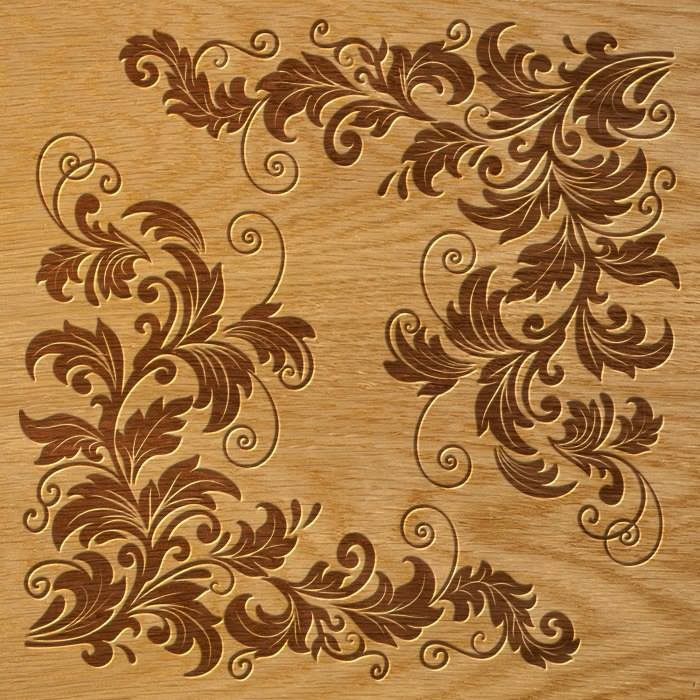 Laser Cut Floral Ornament Pattern Free DXF File