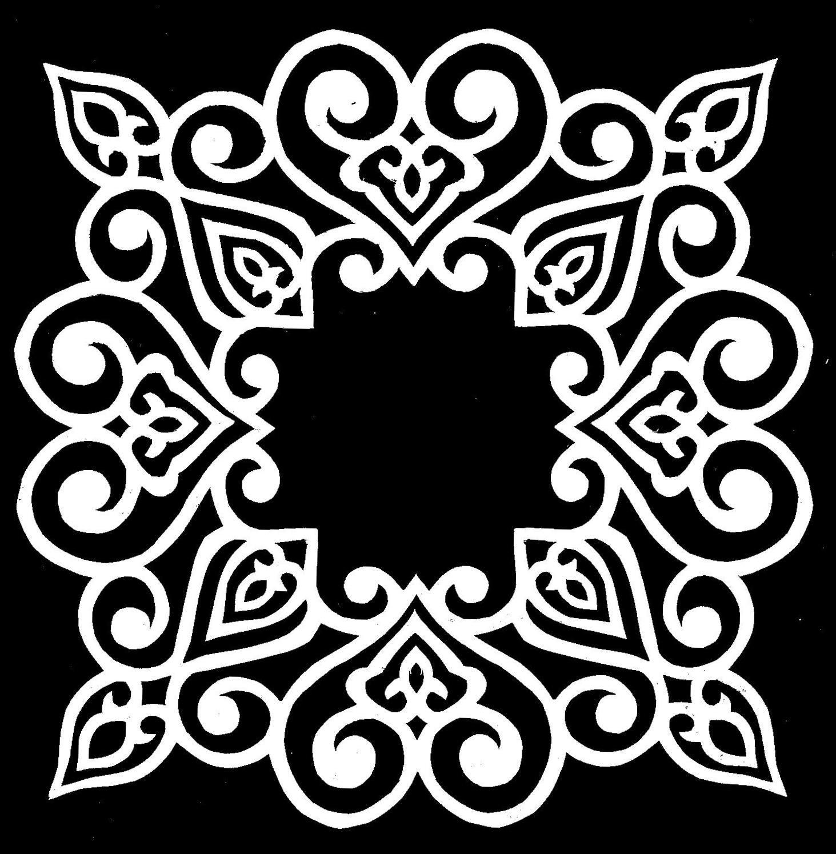 Laser Cut Floral Pattern For Decoration Free DXF File