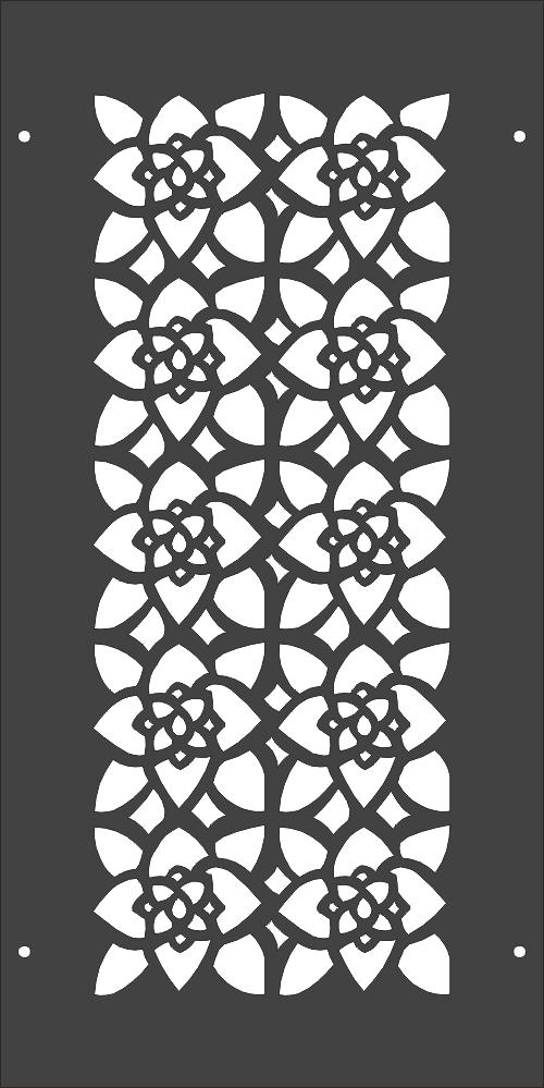 Laser Cut Floral Pattern Separator Free DXF File