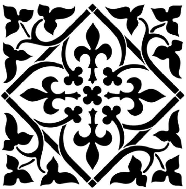 Laser Cut Floral Pattern Free DXF File