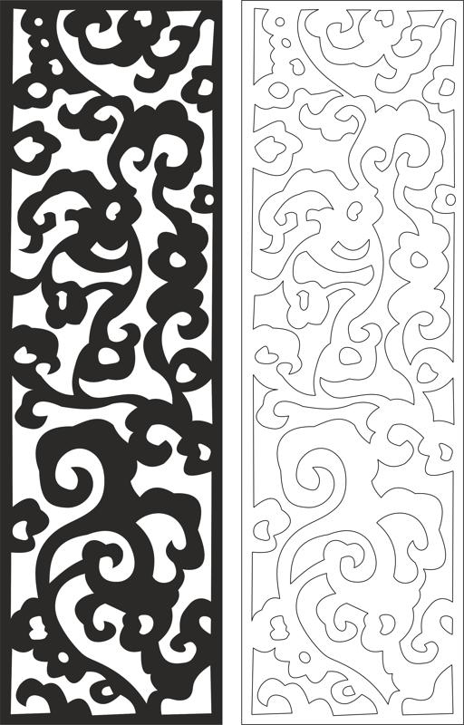 Laser Cut Floral Seamless Pattern Design Free DXF File