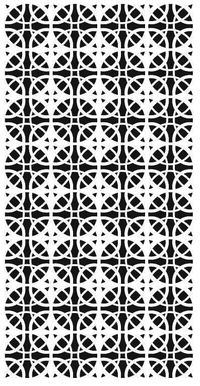 Laser Cut Geometric Grill Seamless Pattern Free DXF File