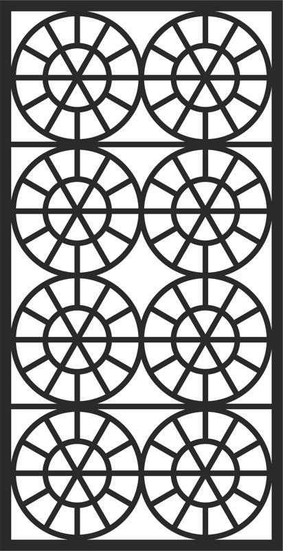 Laser Cut Geometric Grille Design Pattern Free DXF File