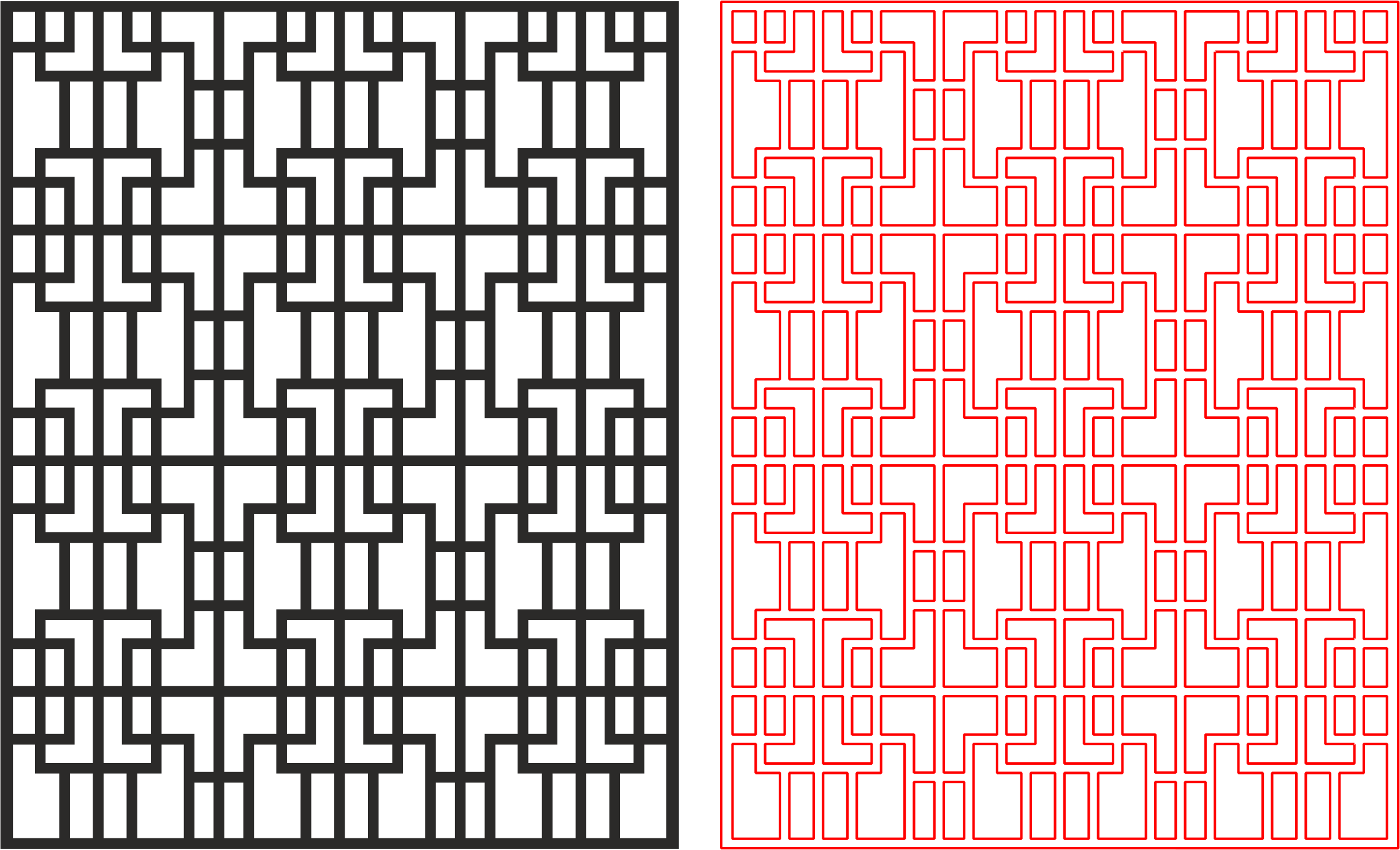 Laser Cut Geometric Wireframe Art Pattern Free DXF File