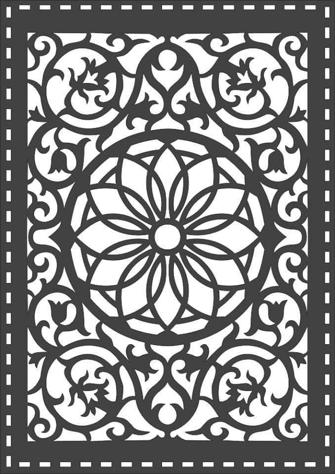 Laser Cut Grille Seamless Pattern Design Free DXF File