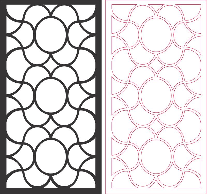 Laser Cut Grilles Seamless Pattern Design Free DXF File