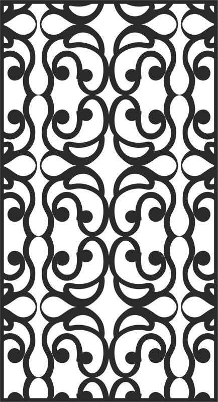 Laser Cut Hollow Engraving Pattern Free DXF File