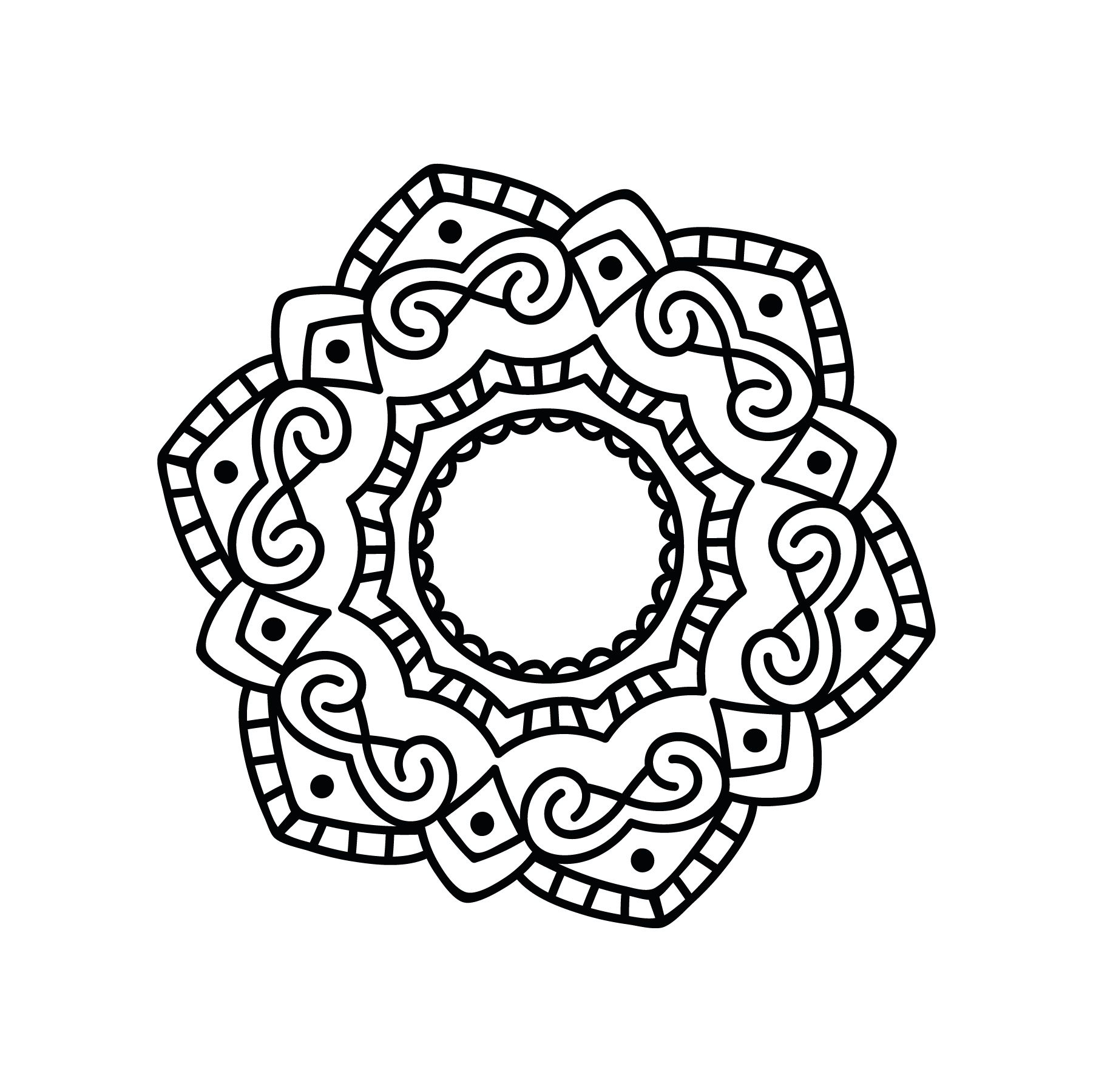 Laser Cut Mandala Floral Pattern Design Free DXF File