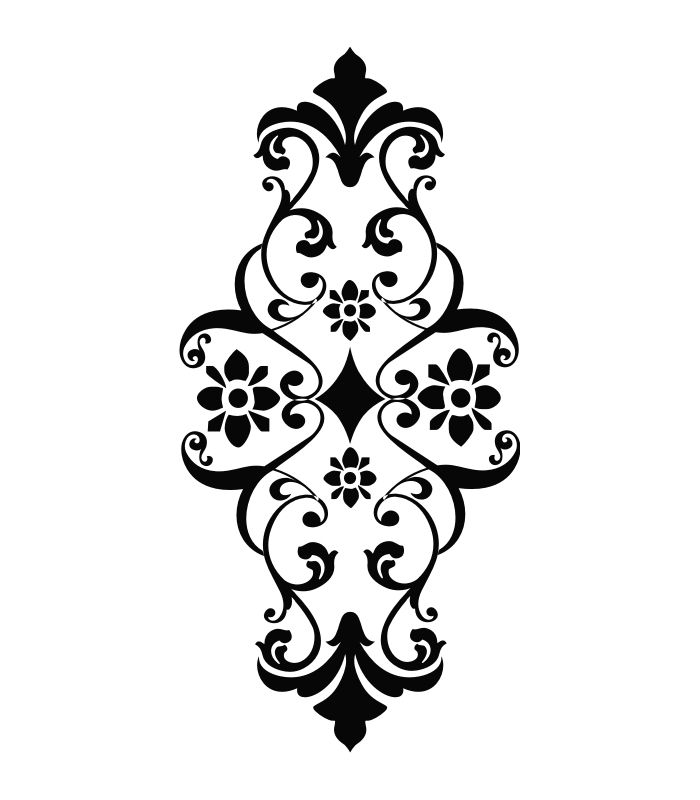 Laser Cut Pattern Stencil Design Free DXF File