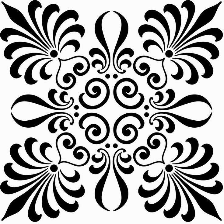 Laser Cut Scroll Saw Floral Pattern Free DXF File